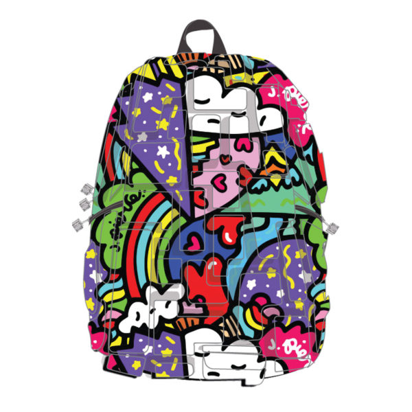Pop Art Hearts and Rainbows Backpack - Heart 2 Heart Artipack