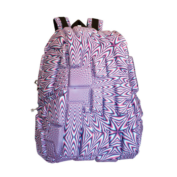 Multicolor Pixel Backpack - BLOK Surfaces Purple Reign