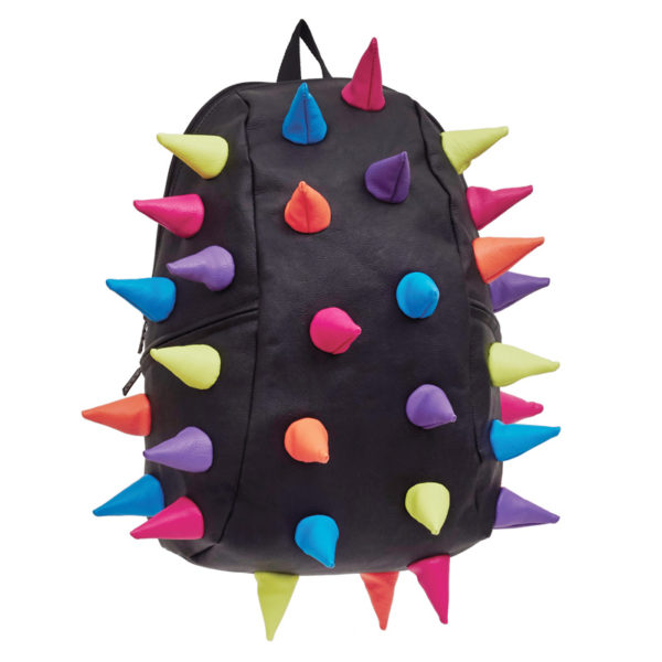 Black with Multicolored Spiketus Rex Color Backpack (Abracadabra)