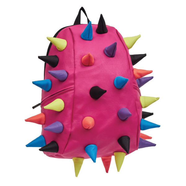 Pink with Multicolored Spiketus Rex Color Backpack (Streamers)