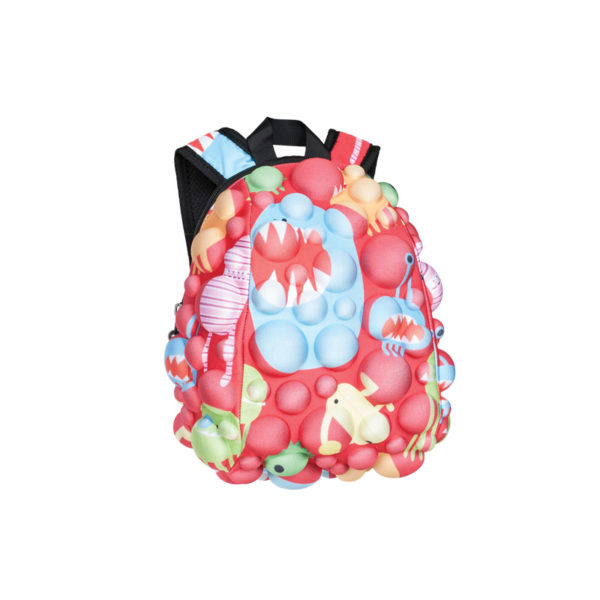 Bubble Pop Monsters Backpack - Monster Red