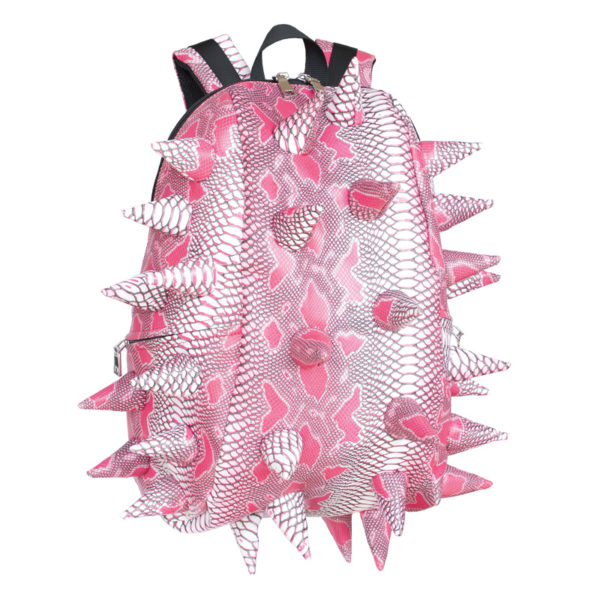 Pink and White Scales Spiketus Rex Pactor Backpack (Pink Extinct)